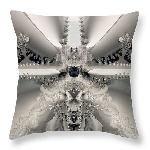 2-dimensional Throw Pillow featuring the digital art Shiner by Dana Haynes