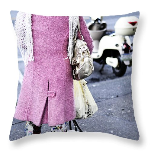 Vancouver Throw Pillow featuring the photograph Shining Overdue by The Artist Project