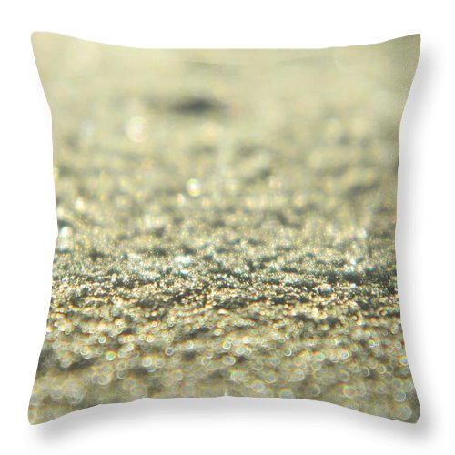Frozen Throw Pillow featuring the photograph Shiny Snow by Andrea Anderegg