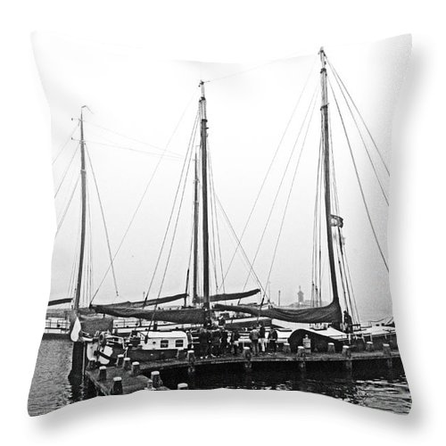 Ship Throw Pillow featuring the digital art Ships Of Volendram by Pravine Chester