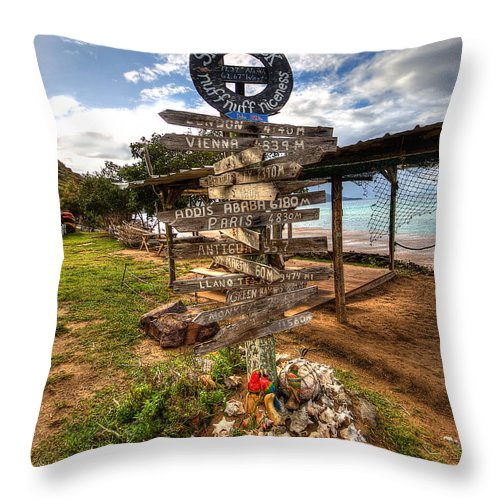 St Kitts Throw Pillow featuring the photograph Shipwreck Beach by Ryan Smith
