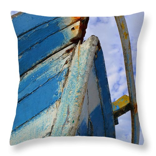 Shipwreck Throw Pillow featuring the photograph Shipwreck by Skip Hunt