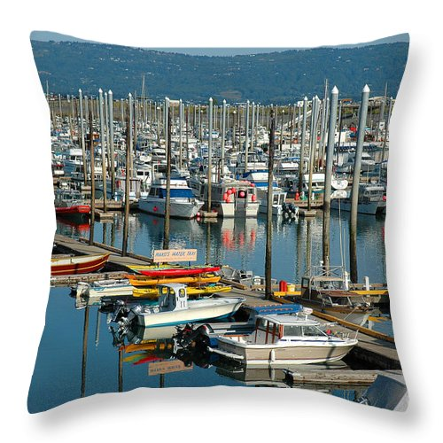 Homer Spit Throw Pillow featuring the photograph Shipyard by Joan Wallner