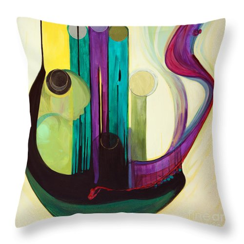 Judaic Throw Pillow featuring the painting Shir Lamaalot Psalm 121 by Marlene Burns
