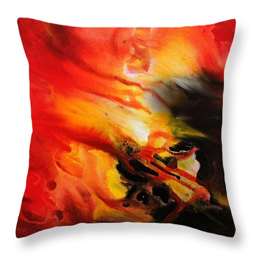 Shooting Star Throw Pillow featuring the painting Shooting Star by Kume Bryant