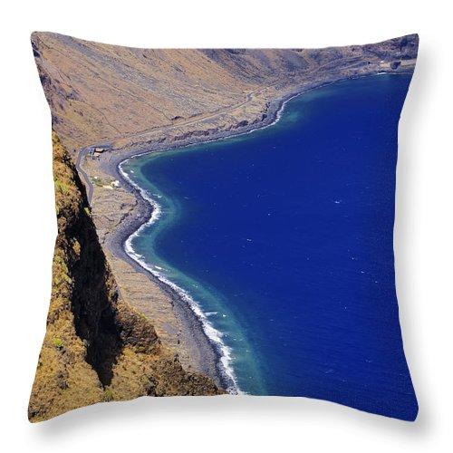 Shoreline Throw Pillow featuring the photograph Shoreline by Karol Kozlowski