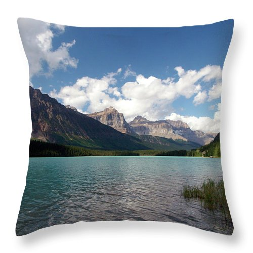 Landscape Photography Throw Pillow featuring the photograph Shores Of Mistaya by Jeremy Rhoades