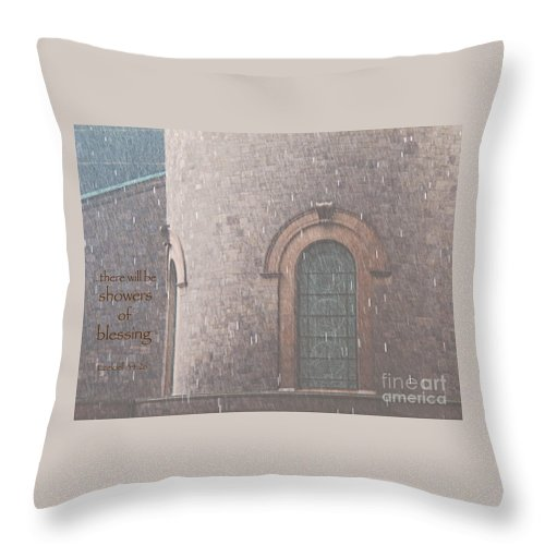 Rain Throw Pillow featuring the photograph Showers Of Blessing by Ann Horn