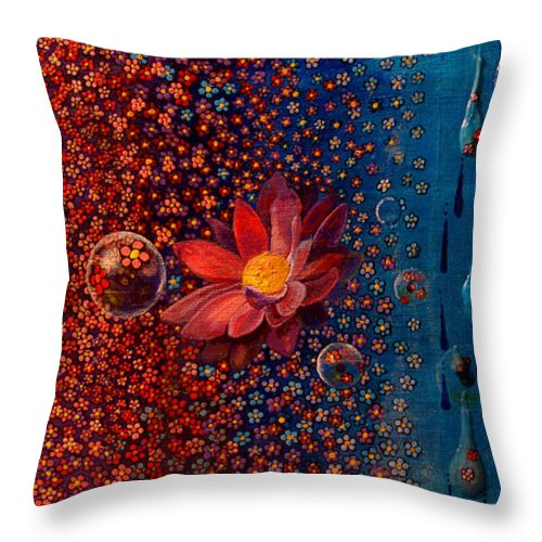 Rain Throw Pillow featuring the painting Showers To Flowers by Mindy Huntress
