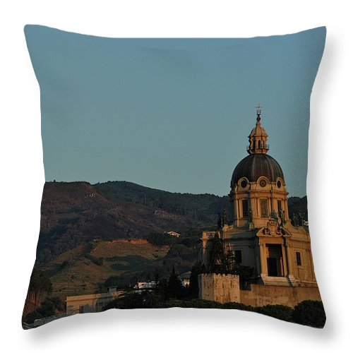 Architecture Throw Pillow featuring the photograph Shrine Of Cristo Re by Joseph Yarbrough