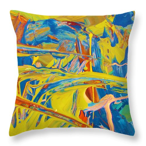 Original Throw Pillow featuring the painting Side Kick by Artist Ai