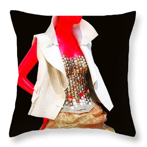 Broadway Catwalk Throw Pillow featuring the photograph Sidewalk Catwalk 4 by Allen Beatty