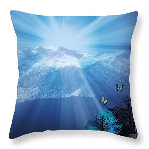 Sierras Throw Pillow featuring the photograph Sierra Radiance by Bobbee Rickard