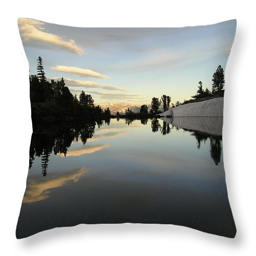 Landscape Throw Pillow featuring the photograph Sierra Reflection II by Nathan Shegrud