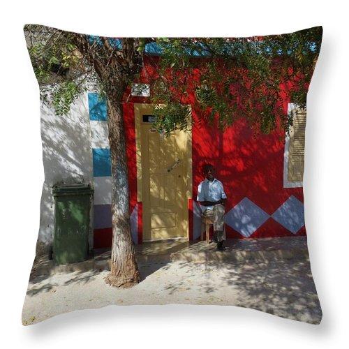 Siesta Throw Pillow featuring the photograph Siesta In Boa Vista by Susanne Baumann