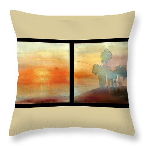 Siesta Key Throw Pillow featuring the painting Siesta Key by Janet Gunderson