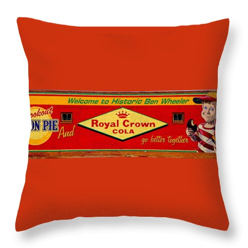 R Throw Pillow featuring the photograph Sign Of The Times by Darrell Clakley