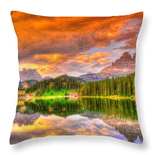 Dolomite Throw Pillow featuring the photograph Silence Of Dusk by Midori Chan