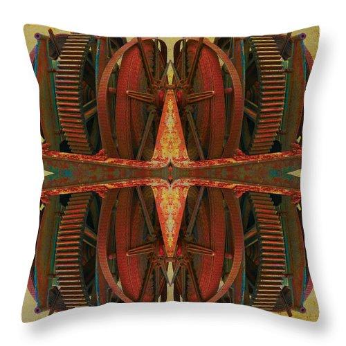 Gear Throw Pillow featuring the photograph Silent Behemoth by Bill Jonas