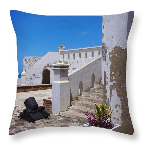 Cannon Throw Pillow featuring the photograph Silent Cannon by Jamie Johnson
