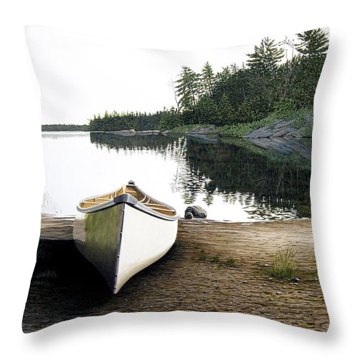 Landscapes Throw Pillow featuring the painting Silent Retreat by Kenneth M Kirsch