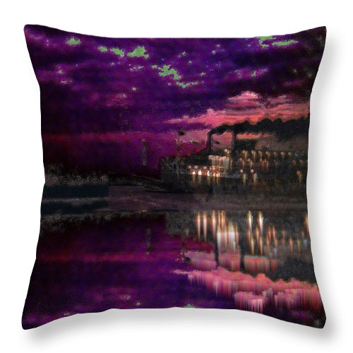 Silent River Throw Pillow featuring the digital art Silent River by Seth Weaver