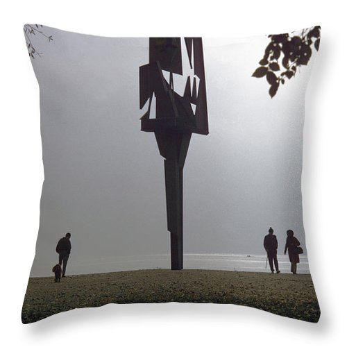 Lake Throw Pillow featuring the photograph Silhouettes 3 by Dragan Kudjerski