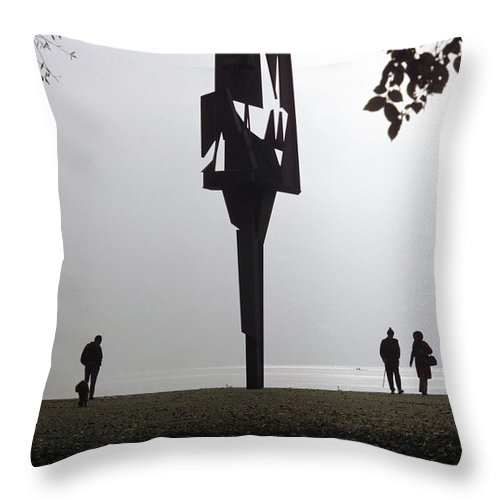 Silhouettes Throw Pillow featuring the photograph Silhouettes by Dragan Kudjerski