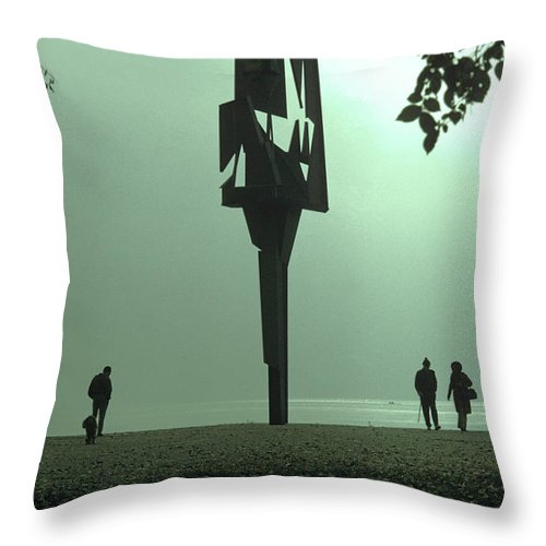 Lake Throw Pillow featuring the photograph Silhouettes II by Dragan Kudjerski
