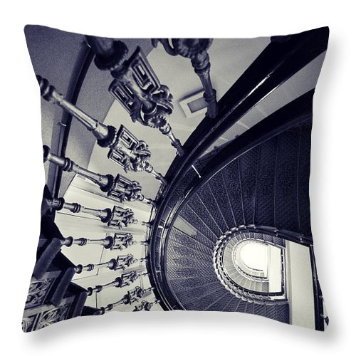 Staircase Throw Pillow featuring the photograph Silver Beauty by Jaroslaw Blaminsky