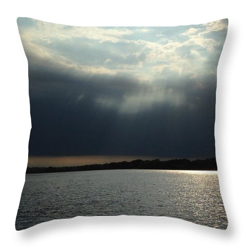 Water Throw Pillow featuring the photograph Silver Lining by Sheila Mashaw