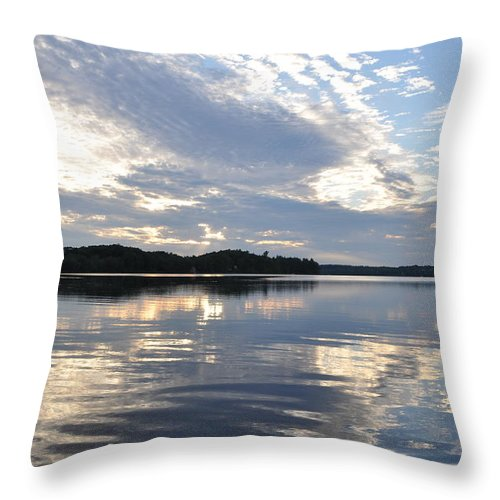 Water Throw Pillow featuring the photograph Silver Twilight by Glenn Gordon
