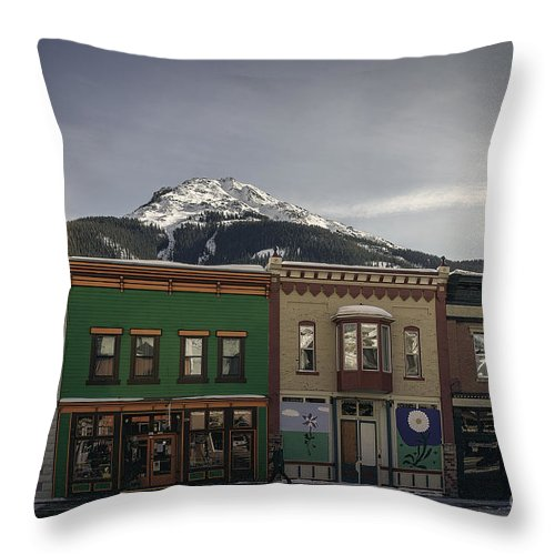 Silverton Colorado Throw Pillow featuring the photograph Silverton Street Scene by Janice Pariza