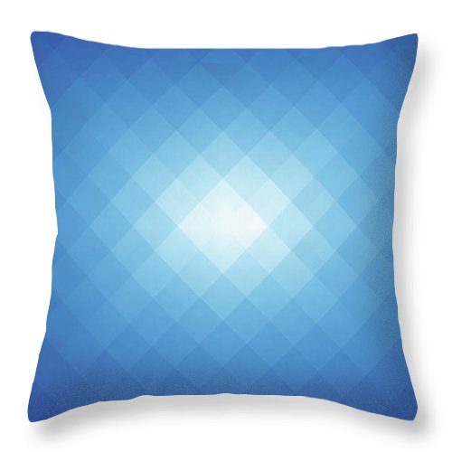 Empty Throw Pillow featuring the digital art Simple Blue Pixels Background by Simon2579