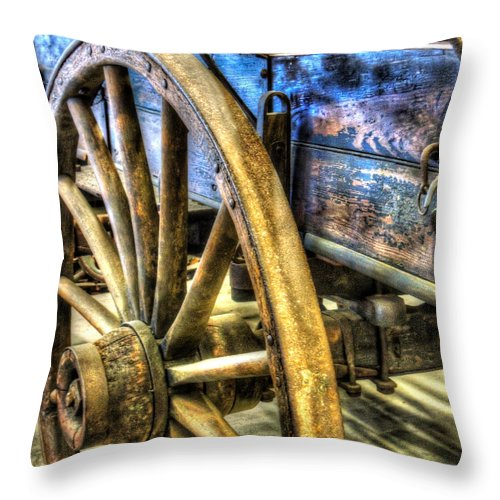 Wagon Throw Pillow featuring the photograph Simpler Times by Bianca Nadeau