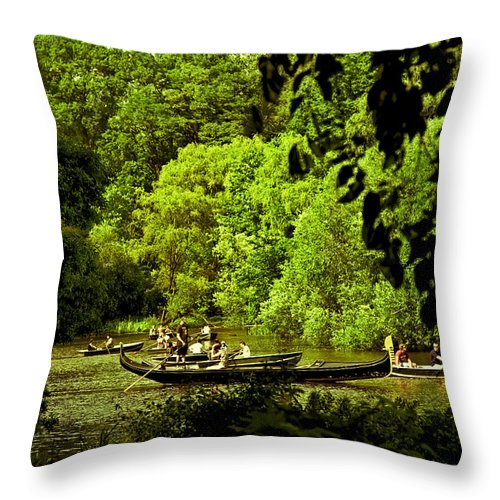 Rowing Throw Pillow featuring the photograph Simpler Times - Central Park - Nyc by Madeline Ellis