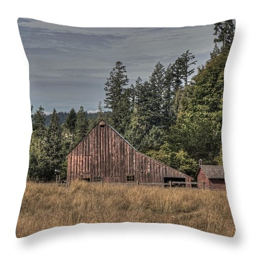 Barn Throw Pillow featuring the photograph Simpler Times by Randy Hall