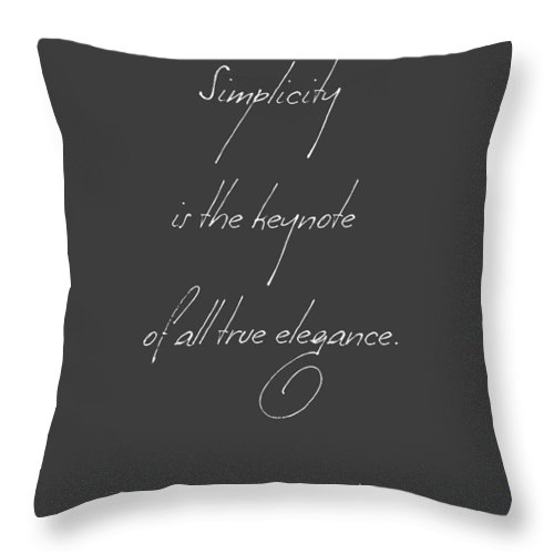 Simplicity Throw Pillow featuring the digital art Simplicity And Elegance by Gina Dsgn