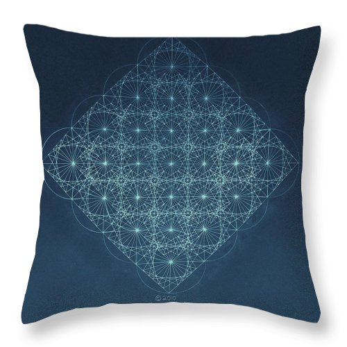 Fractal Throw Pillow featuring the drawing Sine Cosine and Tangent Waves by Jason Padgett
