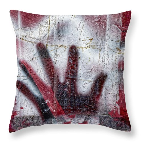 Graffiti Throw Pillow featuring the photograph Sine Of The Wave by Carol Leigh