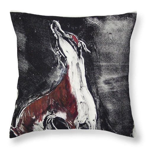 Framed Throw Pillow featuring the mixed media Singing For Joy by Cori Solomon
