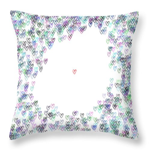Abstract Throw Pillow featuring the digital art Single IIi ... by Tim Fillingim