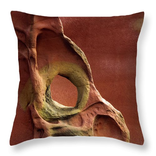 Geology Throw Pillow featuring the photograph Sinister Forms by By Mediotuerto