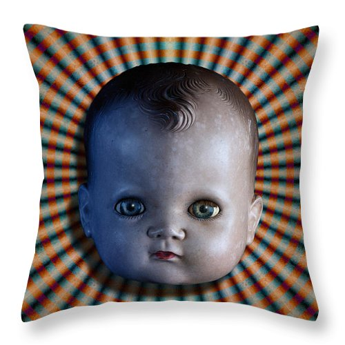 Doll Throw Pillow featuring the photograph Sirkus by WB Johnston