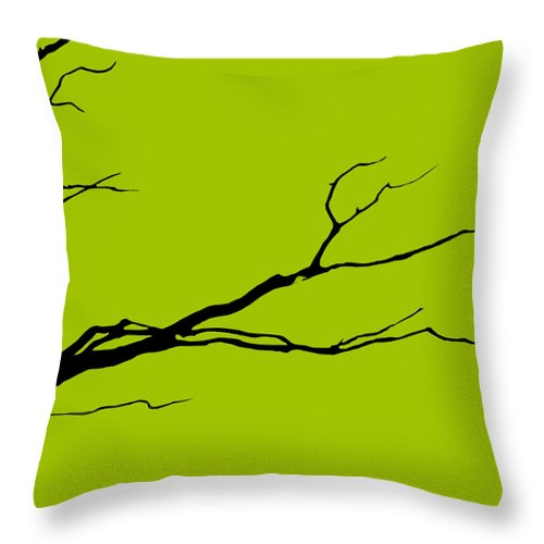 Light Green Throw Pillow featuring the digital art Sitting Around Prt 3 by Lourry Legarde