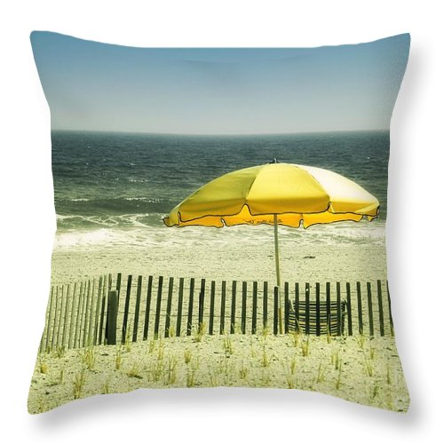 Shore Throw Pillow featuring the photograph Sitting By The Shore by Sharon Woerner