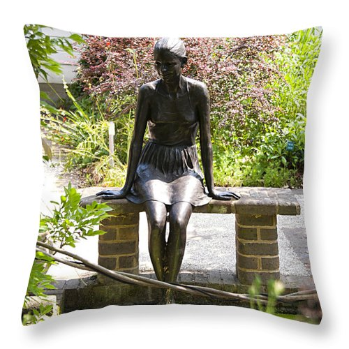 Bronze Throw Pillow featuring the photograph Sitting Pretty by Peter Lloyd