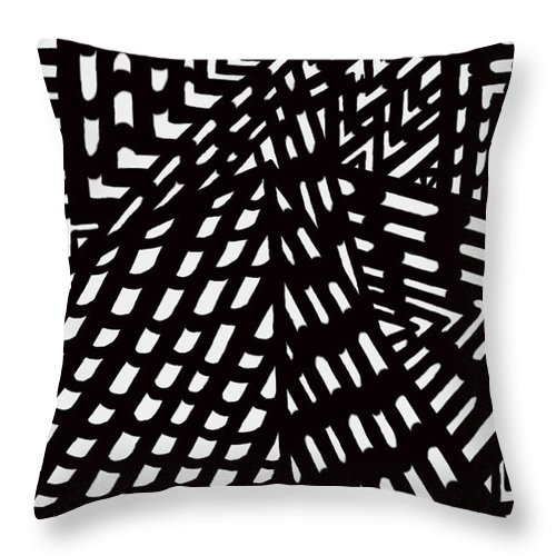 Digital Throw Pillow featuring the digital art Situ by Christopher Rowlands