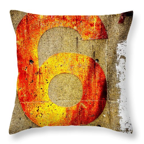 Six Throw Pillow featuring the photograph Six by Bob Orsillo