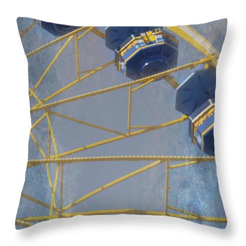 Amusement Throw Pillow featuring the photograph Sky Buckets by Judy Hall-Folde